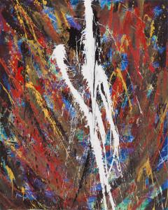 Elemento inatteso, 2012, acrilico su tela, 100 x 80