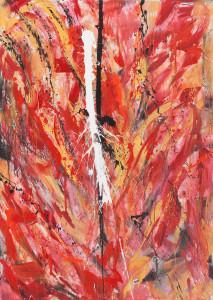 Reazione, 2012. acrilico su tela, 100x 140