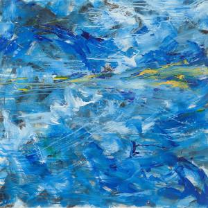Notte Ribelle (2011, Acrilico su tela, 95 X 95)
