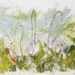 Natura inquieta (2020, acrilico e smalto su tela, 150x200)