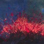 Notte siciliana (2020, acrilico e smalto su tela, 80x120)