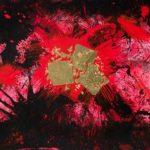Oro nell'anima (2020, acrilico e smalto su tela, 100x140)